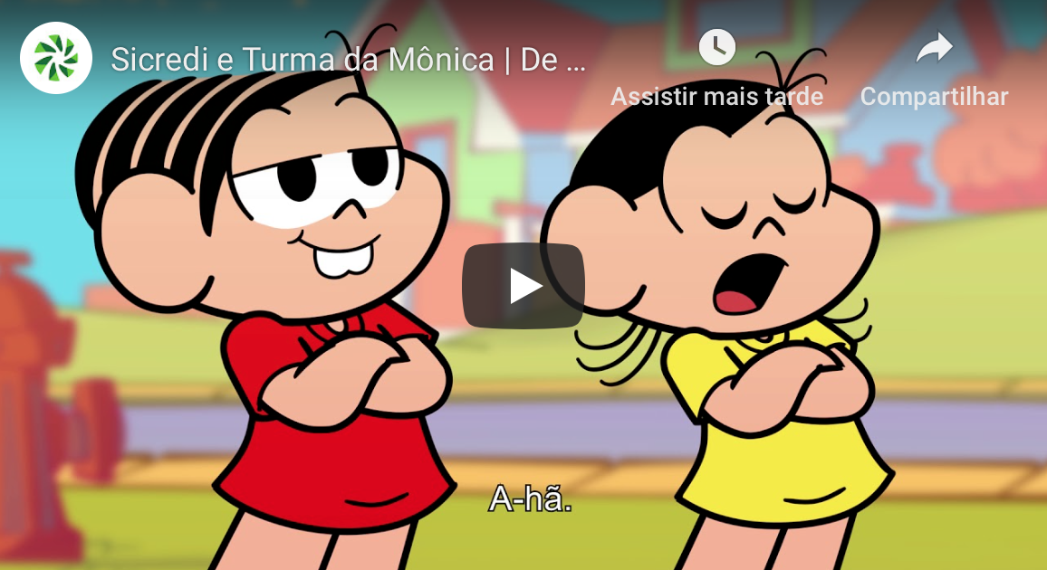 Maurício de Sousa Produções  lança três desenhos para ensinar educação financeira para crianças